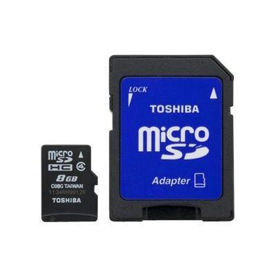 Toshiba flash memory card - 8 GB - microSDHC (SD-C08G2T2TRT)