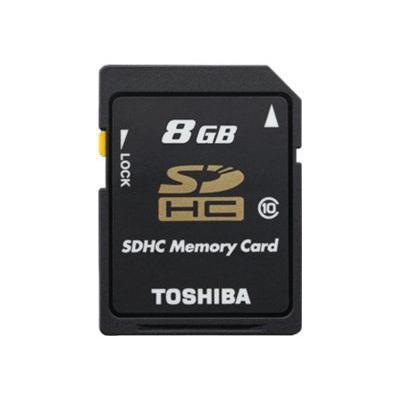Toshibaflash memory card - 8 GB - SDHC(THNSH008GTRT)