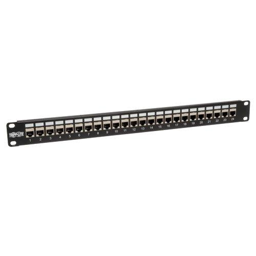 TrippLite 24-Port Shielded Cat6 Feed Through Patch Panel TAA GSA