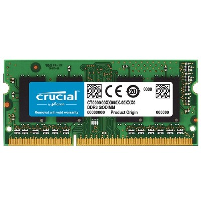 Crucial 2GB DDR3 1066 MT/S (PC3-8500) CL7 SODIMM 204PIN FOR MAC (CT2G3S1067M)