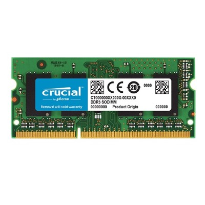 Crucial 4GB DDR3 1600 MT/S (PC3-12800) CL11 SODIMM 204PIN 1.35V/1.5V FOR MAC (CT4G3S160BM)