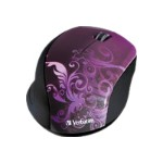 Wireless Optical Design Mouse - Mouse - optical - wireless - 2.4 GHz - USB wireless receiver - purple
