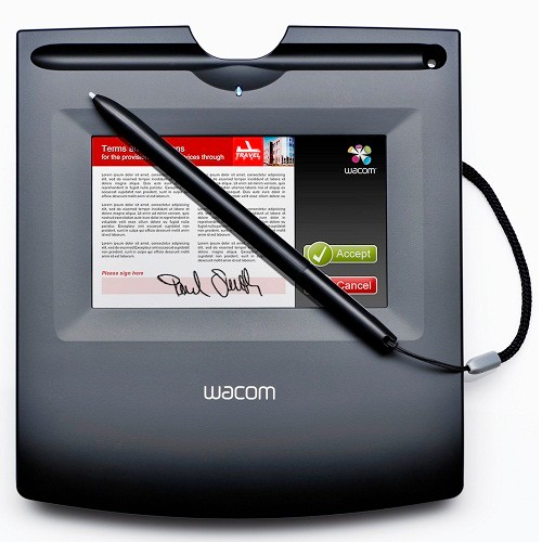 "Wacom Tablet 4.1""X2.4"" Color LCD Signature"
