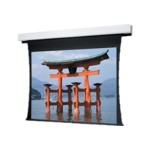 Tensioned Advantage Deluxe Electrol Wide Format - Projection screen - ceiling mountable - motorized - 120 V - 109 in (109.1 in) - 16:10 - Da-Mat - white powder coat
