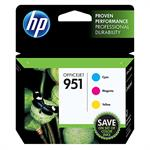 HP Inc. 951 Combo-pack Cyan/Magenta/Yellow Officejet Ink Cartridges CR314FN#140