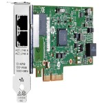 361T - Network adapter - PCIe 2.0 x4 low profile - Gigabit Ethernet x 2 - for ProLiant DL360 Gen10, DL560 Gen10, ML350 Gen10, XL230k Gen10; SimpliVity 380 Gen9