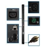 PDU Metered Vertical 3.2-3.8kW 200-240V 20A (7 C13 & 1 C19) C20/L6-20P 10ft Cord 0URM