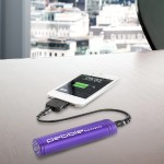 Pebble Smartstick Emergency 2200mAh Portable Battery for iPhone/Blackberry/Samsung/HTC/Nokia (Purple)
