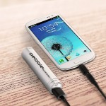 Pebble Smartstick Emergency 2200mAh Portable Battery for iPhone/Blackberry/Samsung/HTC/Nokia (Silver)