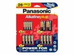 Panasonic Alkaline Plus 26 Family Pack - Battery 26 x AA / AAA / 9V alkaline K-KJLA12/FP5