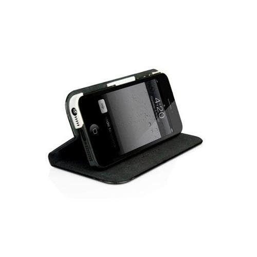 MacAlly Peripherals Slim Folio Case with Stand for iPhone 5 - Black/White