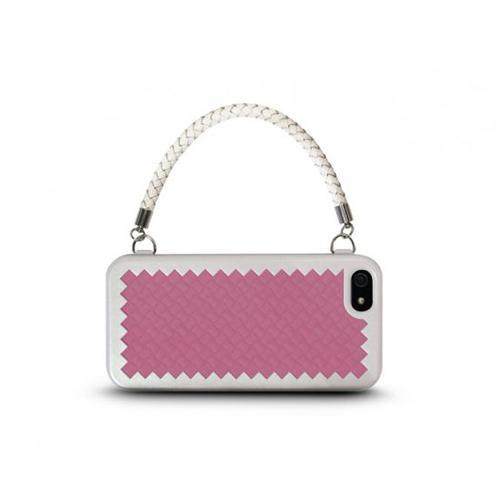 The Joy Factory New York, New York for iPhone 5 - Handbag Case with Silicone Liner - Rose Pink
