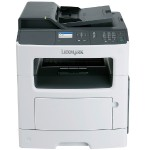 MX310dn - Multifunction printer - B/W - laser - Legal (8.5 in x 14 in) (original) - A4/Legal (media) - up to 35 ppm (copying) - up to 35 ppm (printing) - 300 sheets - 33.6 Kbps - USB 2.0, LAN
