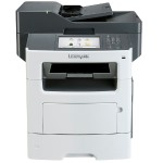 MX611de - Multifunction printer - B/W - laser - Legal (8.5 in x 14 in) (original) - Legal (media) - up to 50 ppm (copying) - up to 50 ppm (printing) - 650 sheets - 33.6 Kbps - USB 2.0, Gigabit LAN, USB host