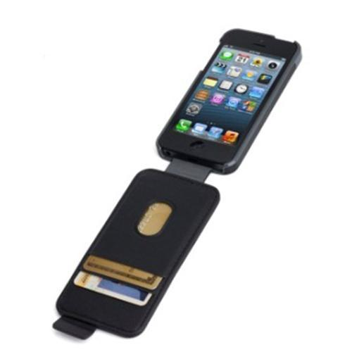 Kensington Portafolio Flip Wallet for iPhone 5 - Black Marble