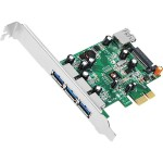 JU-P40311-S1 - USB adapter - PCIe 2.0 low profile - USB, USB 2.0, USB 3.0 - 4 ports