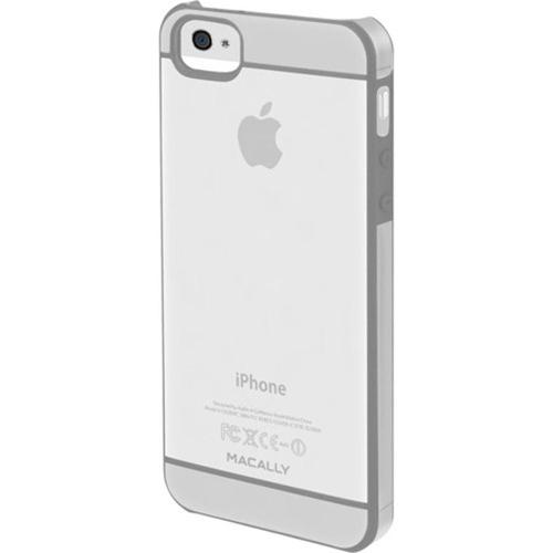 MacAlly Peripherals Hardshell Clear Case with Soft Edges for iPhone 5 - Translucent with Light Gray Accent