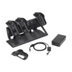 Desk Mount Ready Four Bay Ethernet Charge Cradle Kit - Docking cradle - Ethernet - for  MC9500-K, MC9590, MC9596, MC9598, MC959B