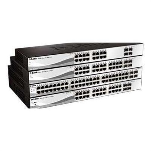 D-Link Web Smart DGS-1210-28P - switch - 24 ports - managed - desktop, rack-mountable