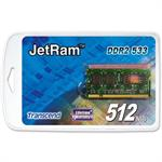 JetRAM - DDR2 - 512 MB - SO-DIMM 200-pin - 533 MHz / PC2-4200 - CL4 - 1.8 V - unbuffered - non-ECC