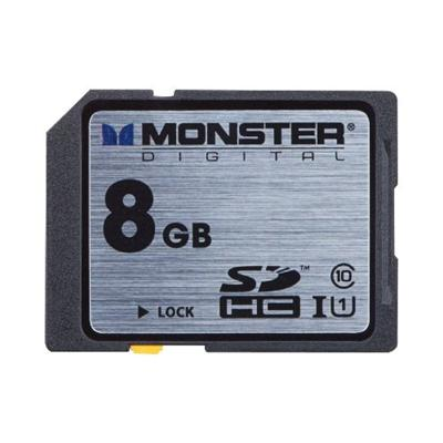 Monster Digital 8GB SDHC Full Size SD Memory Card Class 10/UHS-1 (FSD-0008)