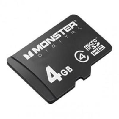 Monster Digital 4GB SDHC Micro SD Memory Card Class 4 (USD-0004)