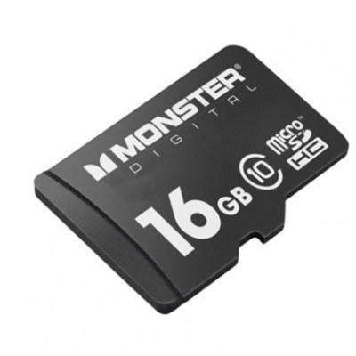 Monster Digital 16GB SDHC Micro SD Memory Card Class 10 (USD-0016-101)