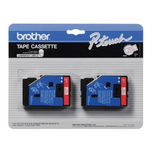 "Brother 2pk 1/2"" Red on White"