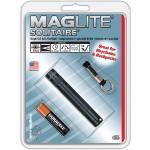 Solitaire 1-Cell AAA Flashlight - Black