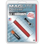 Solitaire 1-Cell AAA Flashlight - Red