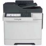 CX510de - Multifunction printer - color - laser - Legal (8.5 in x 14 in) (original) - Legal (media) - up to 32 ppm (copying) - up to 32 ppm (printing) - 250 sheets - 33.6 Kbps - USB 2.0, Gigabit LAN, 2 x USB host