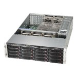 Supermicro SC836 BE26-R1K28B - Rack-mountable - 3U - extended ATX - SATA/SAS - hot-swap 1280 Watt - black - USB/serial