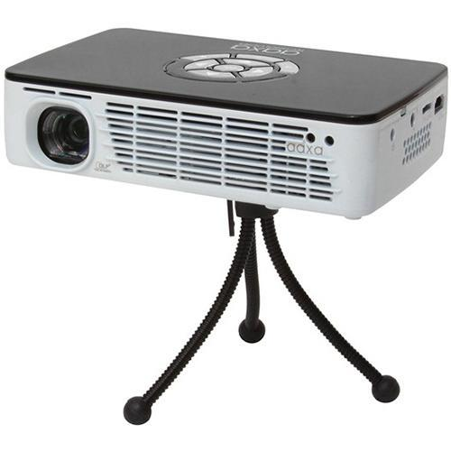 AAXA Technologies P300 Pico Projector, Pocket Size, Rechargeable Battery, 300 Lumen LED, HDMI, ARM Processor