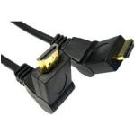 HDMI CABLE SWIVEL 6FEET BLK/GOLD1.4