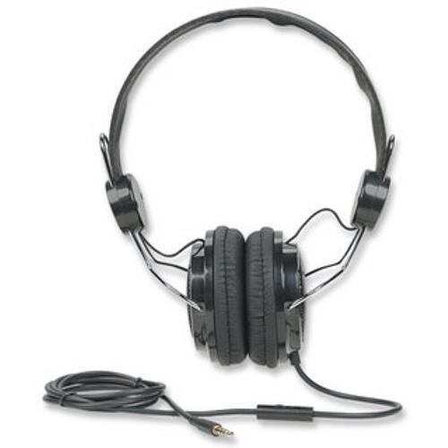 Manhattan Office Products Elite Stereo Headset - Black/Silver