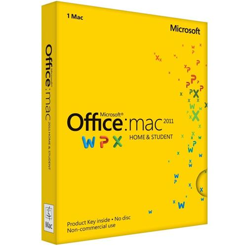 Microsoft Office for Mac Home and Student 2011 - English - Mac (Electronic Software Download Version)