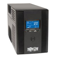 TrippLite UPS Smart 1500VA 900W Tower LCD Battery Back Up AVR Coax RJ45 USB - UPS - AC 120 V - 900 Watt - 1500 VA - USB - output connectors: 10 SMART1500LCDT