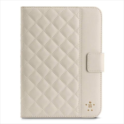 Belkin Quilted Cover with Stand for iPad mini - Cream