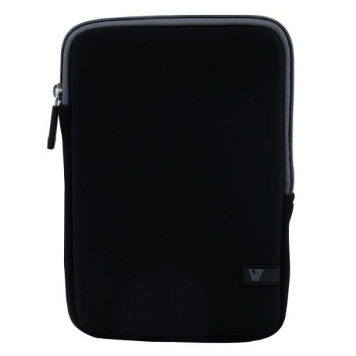 "V7 Ultra Protective Sleeve for iPad mini and Most Tablets up to 8"" - Black with Gray Accents"