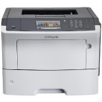 MS610de - Printer - monochrome - Duplex - laser - A4/Legal - 1200 x 1200 dpi - up to 50 ppm - capacity: 650 sheets - USB, Gigabit LAN, USB host