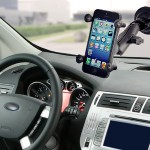Universal X-Grip RAM-B-102-UN7U - Car holder - for Apple iPhone 4, 4S, 5, 5c, 5s, 6, 6 Plus; Samsung Galaxy S4, S6