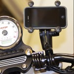 RAM Handlebar Rail Mount with Zinc Coated U-Bolt Base and Universal X-Grip Cell/iPhone Holder