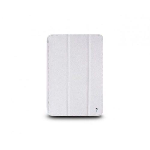 The Joy Factory SmartSuit Mini for iPad mini / Ultra-Slim Synthetic Leather Snap-On Case/Stand - Silver/White