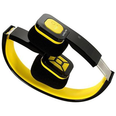 Eagle Tech Computers Foldable Bluetooth Headset - Wireless Music Streaming and Hands-Free Calling (Black Yellow) (ET-ARHP200BF-BY)