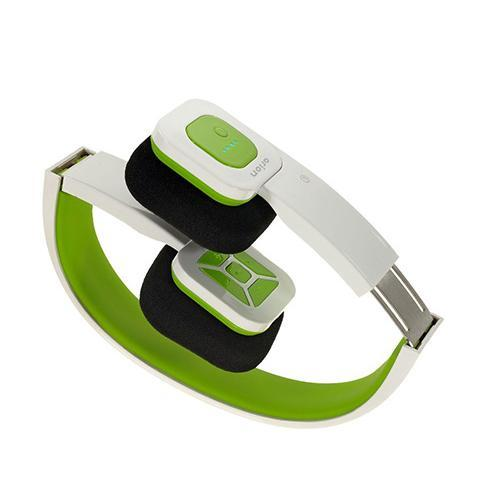 Eagle Tech Computers Foldable Bluetooth Headset - Wireless Music Streaming and Hands-Free Calling (White Green)