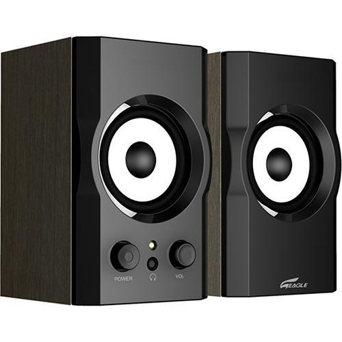 "Eagle Tech Computers 2.0 Soundstage Speakers - 3"" Drivers, 40Hz to 20kHz, 12 Watts"