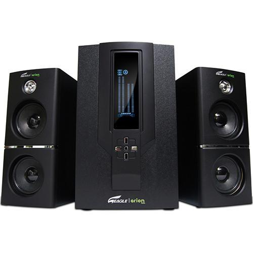 "Eagle Tech Computers 2.1 Soundstage Speakers with Subwoofer & Remote - 5.25"" Drivers, 20Hz to 20kHz, 70 Watts"