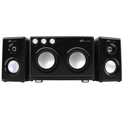 Eagle Tech Computers2.1 Soundstage Speakers with Dual Subwoofers & Karaoke Inputs - 20Hz to 20kHz, 160 Watts(ET-AR514R-BK)