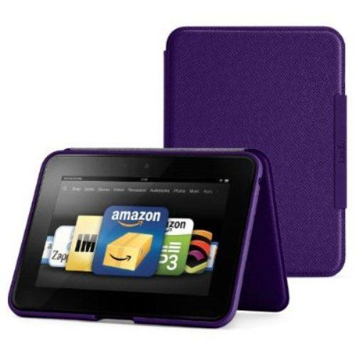 "Amazon Kindle Fire HD 7"" Standing Leather Cover - Royal Purple"