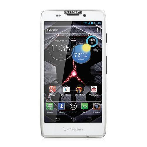 Verizon Motorola Phones Droid RAZR HD in White w/ Network Device Service Activation 2 Year